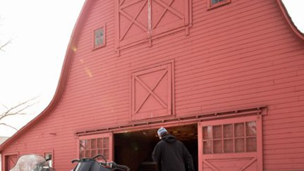 exterior of a red barn