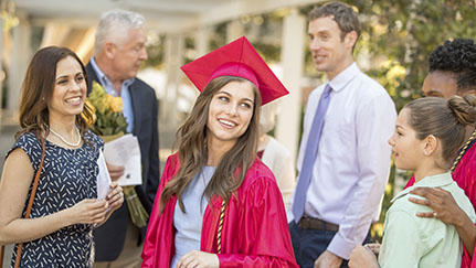 young woman on graduation day
