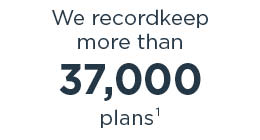 We recordkeep approximately 37,000 plans1
