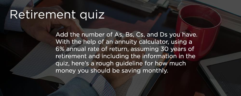 Cuestionario sobre jubilación
