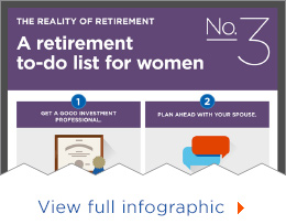 A retirement to-do list for women - view full infographic