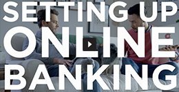 Setting up online banking