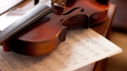 Violin covered by musical instrument insurance